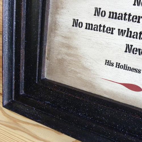 アンティーク木製ウォール看板